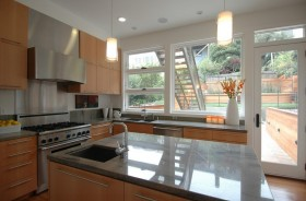 2012现代简约风格厨房装修效果图