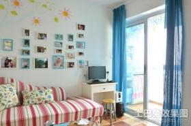 地中海客厅沙发照片背景墙