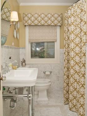 洗手间窗帘效果图