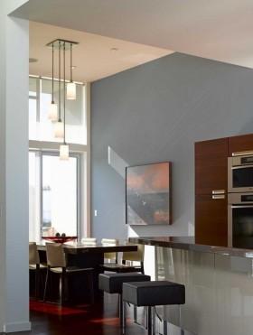 现代风格餐厅吧台家居装饰效果图