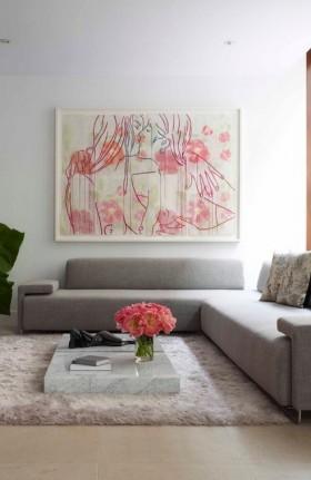 现代简约客厅沙发背景装饰画