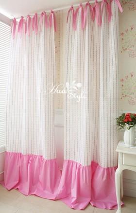 韩式风格卧室窗帘布艺图欣赏