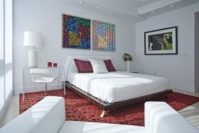卧室红色地毯装修效果图大全