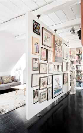 客厅隔断 客厅照片墙隔断