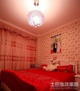 田园风格婚房卧室布置图片