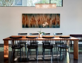 现代简约餐厅背景墙装修效果图
