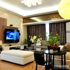 现代风格动感新婚客厅装修效果图