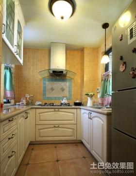 田园风格厨房装修效果图 厨房瓷砖效果图
