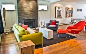 现代暖色调客厅装修效果图大全