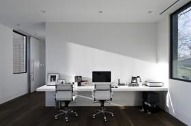现代简约风格三室两厅书房装修效果图