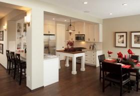 新房白色开放式厨房效果图