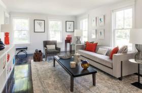 现代简约温馨舒适的客厅装修效果图