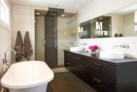 卫浴间浴柜洗手台装修效果图