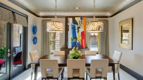 现代风格餐厅吊顶装修效果图