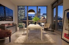 现代简约舒适白领公寓书房装修效果图