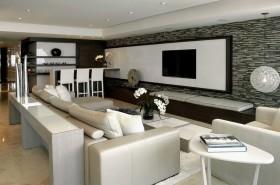 三房两厅客厅电视背景墙装修效果图