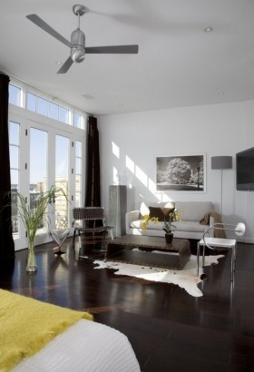 最新单身公寓客厅装修效果图