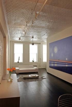 年客厅蓝色背景墙装饰效果图