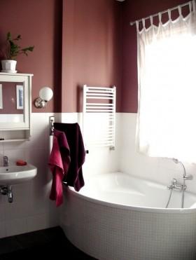 紫色卫浴间浴缸装修效果图大全