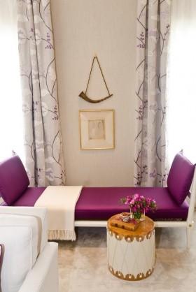 窗帘装修效果图 紫色沙发效果图设计