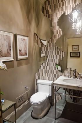 小卫生间装修效果图 卫生间背景墙装修效果图