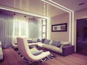 紫色郁金香客厅沙发装修效果图大全