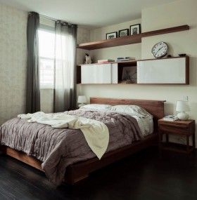 80平小户型卧室床头柜装修效果图大全