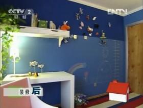 交换空间蓝色儿童书房装修效果图大全