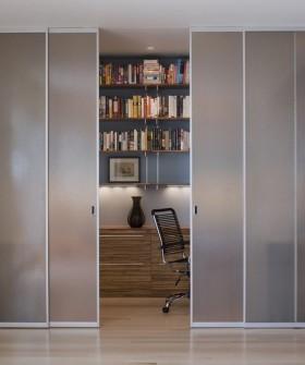 书房对面过道纱帘隐形门装修效果图