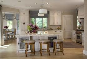 简欧风格白色厨房装修效果图大全
