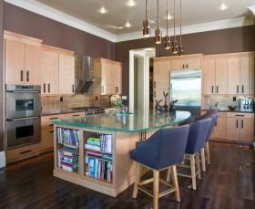 厨房吧台改造收纳柜装修效果图