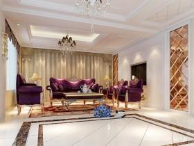 欧式古典风格客厅吊顶装修效果图大全