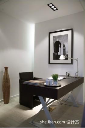 小三居现代简约书房装修效果图大全2012图片