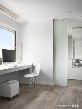 白色极简风格书房装修效果图大全2012图片