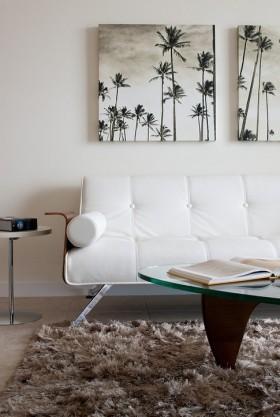 小户型客厅沙发挂画背景墙装修效果图