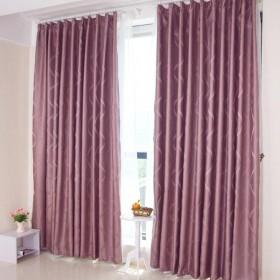 客厅紫色落地窗帘装修图片