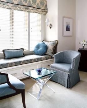 欧式休闲飘窗装修图片 欧式沙发茶几图片