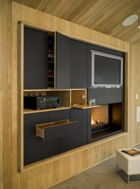 美式实木电视柜装修效果图