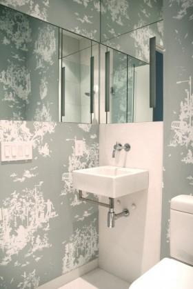 卫生间装修效果图 卫生间壁纸装修效果图