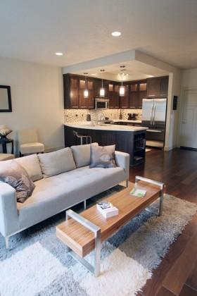 小复式客厅沙发装修效果图大全
