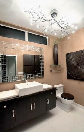 现代风格卫生间浴柜装修效果图大全