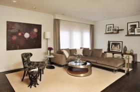 现代客厅沙发背景墙装修效果图 两室两厅客厅装修