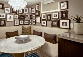 餐厅照片墙效果图