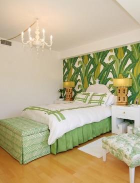 田园风格卧室墙面彩绘效果图欣赏