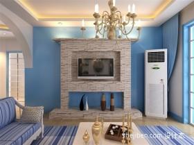 地中海风格小户型电视背景墙装修效果图