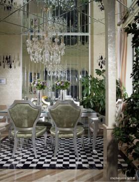 餐厅装修效果图 豪华别墅餐厅吊顶装修效果图