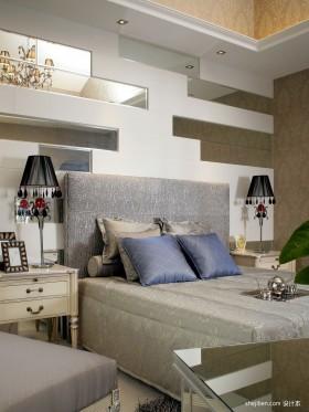 臥室背景墻簡歐風格裝修效果圖大全2015圖片