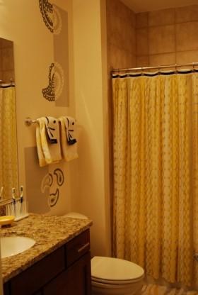 卫生间窗帘隔断装修效果图