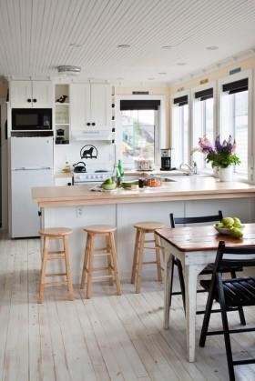 开放式厨房吧台装修效果图 厨房餐厅装修效果图