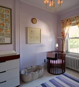淡紫色宝宝儿童房装修效果图大全